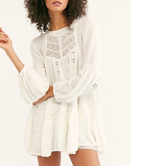 6d92a3934e385 Free People Kiss Kiss Embroidered Lace Tunic